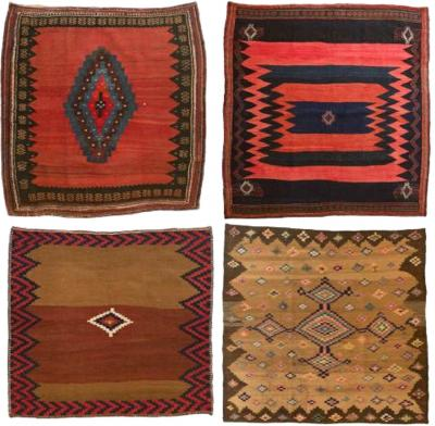Lot Set of 4 Sofreh Rugs