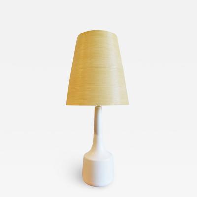 Lotte Gunnar Bostlund Stoneware Table Lamp w Original Fiberglass Shade by Lotte Gunner Bostlund