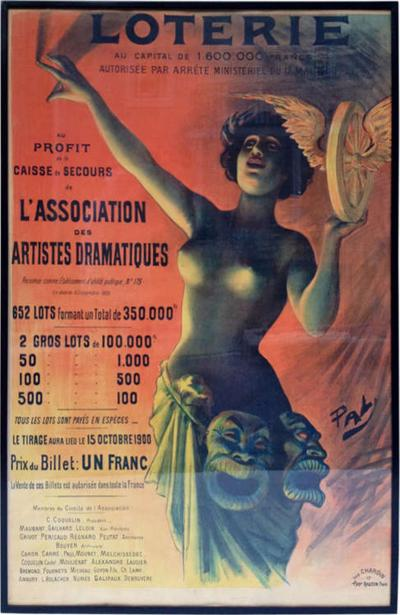 Lotterie French Drama Art Nouveau Pasge Daudin Poster