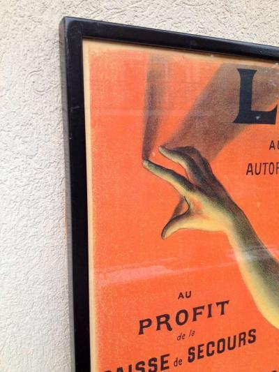 Lotterie French Drama Art Nouveau Pasge Daudin Poster
