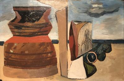 Louis Bouche Louis Bouche Oil on board Objets in a Beach American 1931