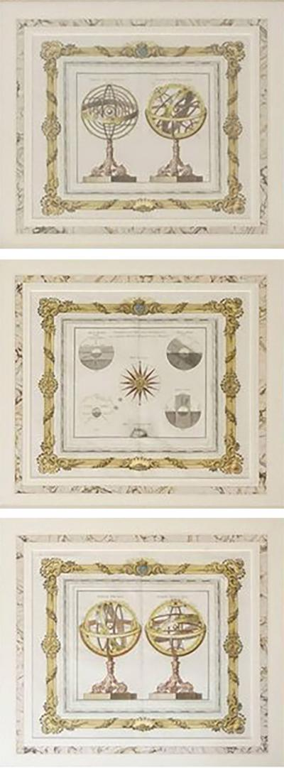 Louis Charles Desnos Hand Colored Astronomical Engravings