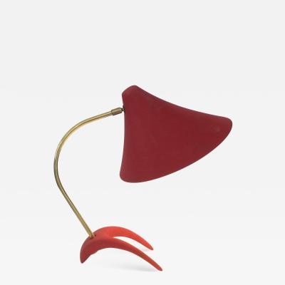 Louis Christiaan Kalff Louis Kalff Diabolo Red Table Lamp For Philips