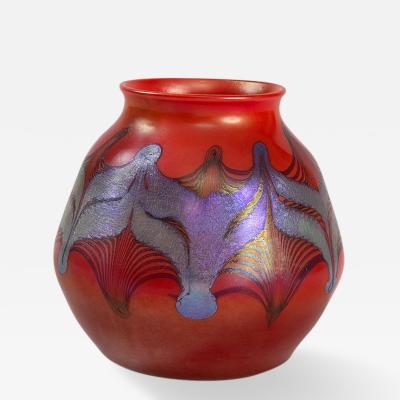 Louis Comfort Tiffany Tiffany Studios New York Favrile Glass Vase 190 of 190