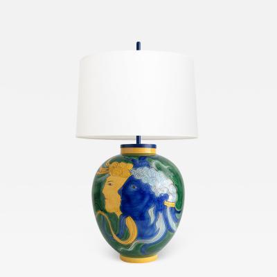 Louis Drimmer LOUIS DRIMMER CERAMIC TABLE LAMP FRANCE 1970