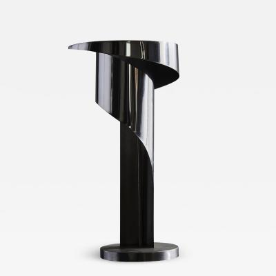 Louis Durot Swirly Steel Table Lamp by Louis Durot