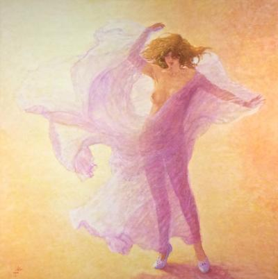 Louis Fabien Hommage a Loie Fuller Tribute to Loie Fuller Large Nude in Pink