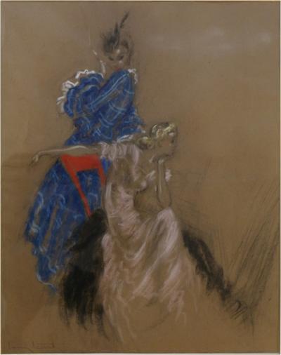 Louis Icart Two Elegant Ladies by Louis Icart 1930s