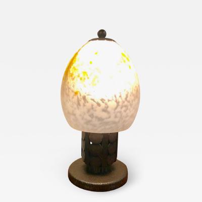 Louis Katona Art Deco Schneider Katona Iron Table Lamp