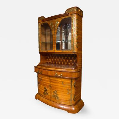 Louis Majorelle An Art Nouveau Louis Majorelle Brass Mounted Fruitwood Cabinet