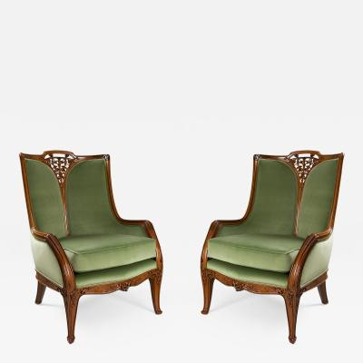 Louis Majorelle Clematis Armchairs by Majorelle