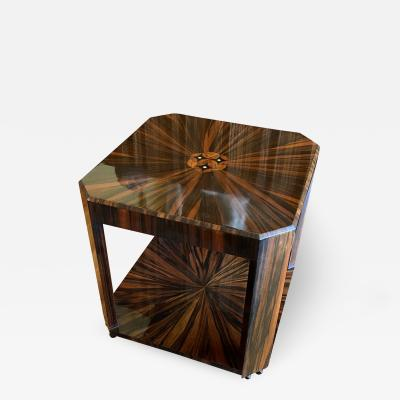Louis Majorelle French Art Deco Macassar Ebony Inlaid Occasional Table