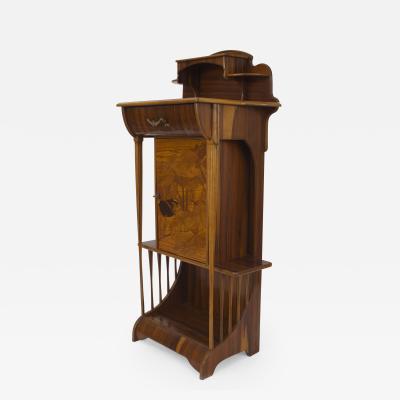 Louis Majorelle French Art Nouveau Eosewood Diminutive Narrow Cabinet