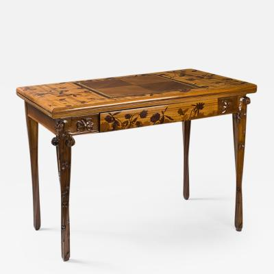Louis Majorelle French Art Nouveau Games Table by Louis Majorelle