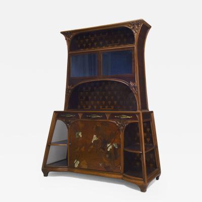 Louis Majorelle French Art Nouveau Mahogany Walnut Cupboard Cabinet