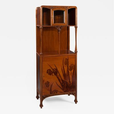 Louis Majorelle French Art Nouveau Marquetry Cabinet by Louis Majorelle