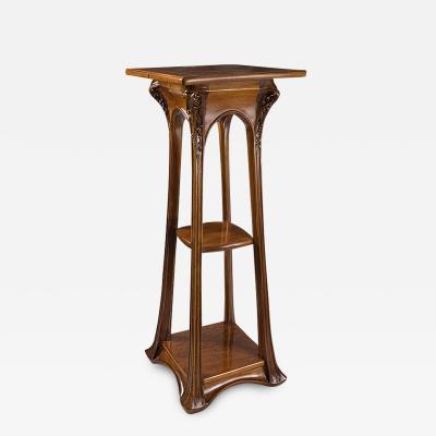 Louis Majorelle French Art Nouveau Pedestal by Louis Majorelle