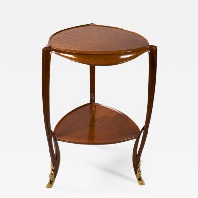 Louis Majorelle French Art Nouveau Triangular Table by Majorelle