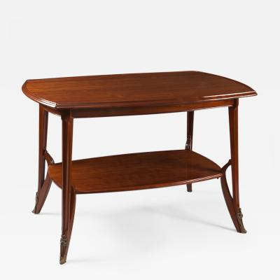 Louis Majorelle French Art Nouveau Wooden Table by Louis Majorelle