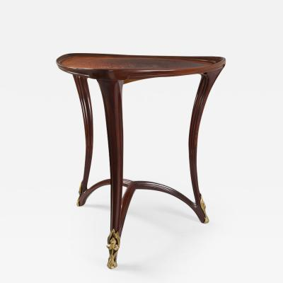 Louis Majorelle Louis Majorelle French Art Nouveau Triangular Gueridon Table