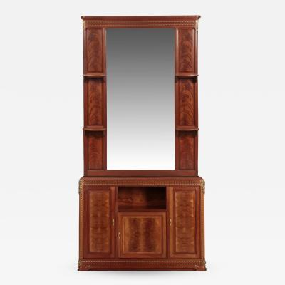 Louis Majorelle Louis Majorelle Pirouette Figured Mahogany Dresser and Mirror