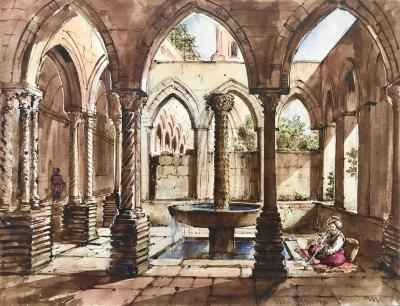 Louis Nicolas Philippe Auguste de Forbin Cloister of Montreal Sicily
