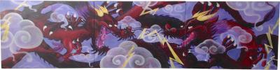 Louis Paladino Graffiti Triptych by New York Graffiti Artist Louis Paladino Tag MUK 1