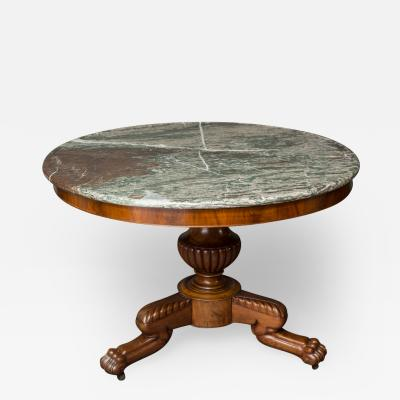 Louis Philippe Bleached Mohogany Center Hall Table