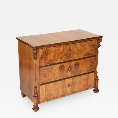 Louis Philippe Louis Philippe Burl Walnut Chest of Drawers