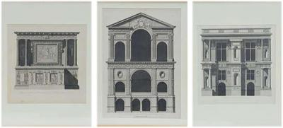 Louis Pierre Baltard Set of Three Architectural Prints by Louis Pierre Baltard de la Fresque