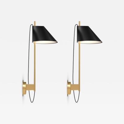 Louis Poulsen GamFratesi Yuh Wall Light for Louis Poulsen in Black or White with Brass