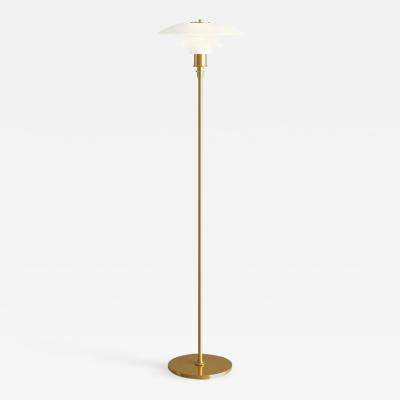 Louis Poulsen Poul Henningsen Brass and Glass PH Floor Lamp for Louis Poulsen