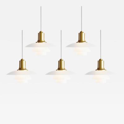 Louis Poulsen Poul Henningsen PH 2 1 Brass Glass Pendant for Louis Poulsen