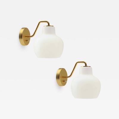 Louis Poulsen Vilhelm Lauritzen VL 1 Brass and Glass Wall Lamp for Louis Poulsen