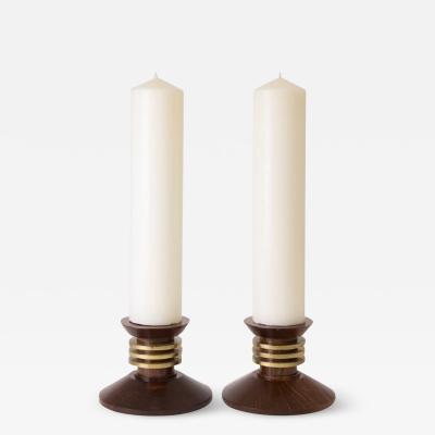 Louis Prodhon Large pair of art deco candlesticks