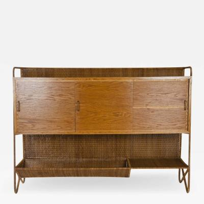 Louis Sognot LOUIS SOGNOT CANE BACKED CABINET