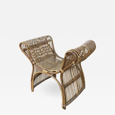 Louis Sognot Louis Sognot Spectacular Rattan Throne Bench