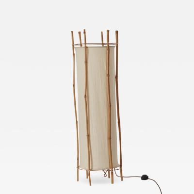 Louis Sognot Louis Sognot bamboo floor lamp France c1960