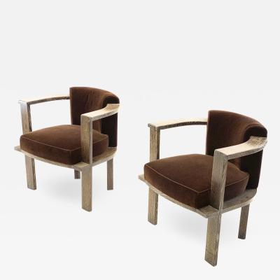 Louis Sognot Louis Sognot rarest UAM modernist pair of arm chairs