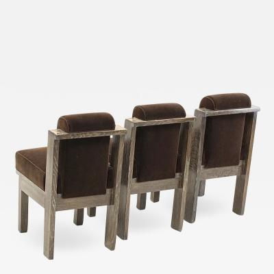 Louis Sognot Louis Sognot set of UAM modernist three office chair