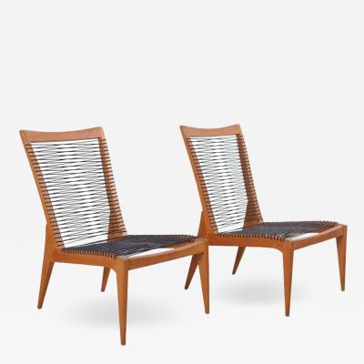Louis Sognot Pair of 1950 Louis Sognot Lounge Chairs