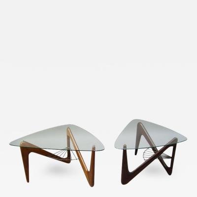 Louis Sognot Pair of Side Tables by Louis Sognot