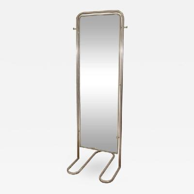 Louis Sognot Spectacular Modernist Art Deco Full Length Mirror by Louis Sognot