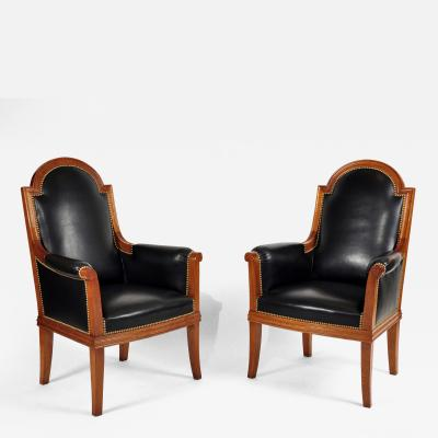 Louis Sue Pair of Armchairs by Louis Sue 1875 1968 Art Moderne France ca 1950