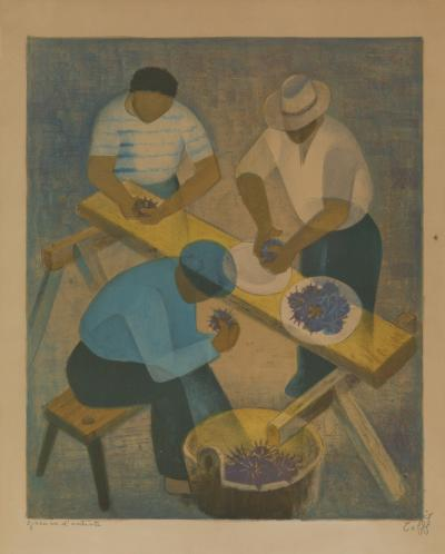 Louis Toffoli Toffoli Louis 1907 1999 The Purple Sea Urchins Artist Proof Lithography