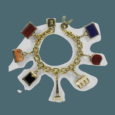 Louis Vuitton Louis Vuitton Gold Charm Bracelet