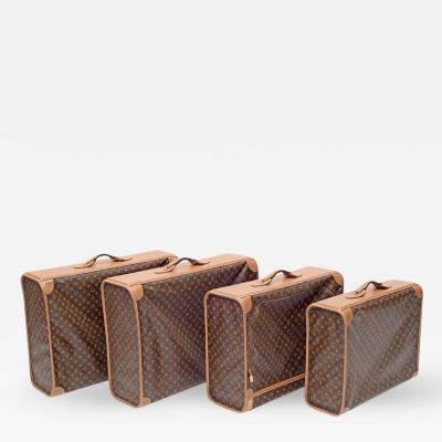 Louis Vuitton Set of Four Louis Vuitton Soft Side Canvas Pullman Cases France 1970s