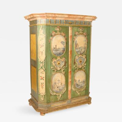 Louis XIV Continental Painted Armoire