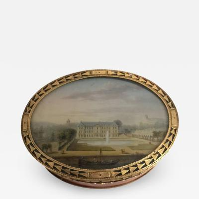 Louis XV Gold Mounted Lacquer Snuff Box