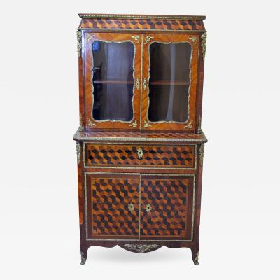 Louis XV Style Cabinet with Secretary France 19th century